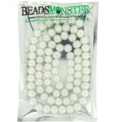 Colour Glass Pearl Beads 10mm Round, Jewellery Making Design for Bracelet Necklace, 80pcs