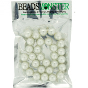 Colour Glass Pearl Beads 12mm Round, Jewellery Making Design for Bracelet Necklace, 30pcs