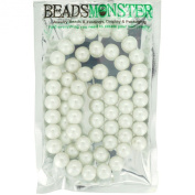 Colour Glass Pearl Beads 12mm Round, Jewellery Making Design for Bracelet Necklace, 60pcs