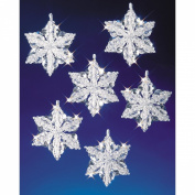 Beadery Holiday Beaded Ornament Kit Snow Crystals 3 1/2' Makes 6