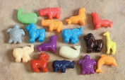 School Smart Animal Pony Plastic Bead Mix - 1/2 Pound - Assorted Colours