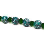 Fiona Gemstone Bead Strand, 14mm, Emerald