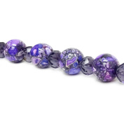 Fiona Gemstone Bead Strand, 14mm, Violet