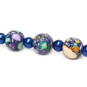 Fiona Gemstone Bead Strand, 14mm, Blue Mixed
