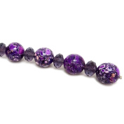 Fiona Gemstone Bead Strand, 16mm, Violet