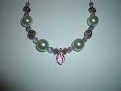Vintage Czech Glass Pearl Lilac Crystal Jewellery Bead Kit