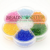Crystal Glass Beads, Bicone, 4x4mm, 1mm Hole, 7 Colours Set 05