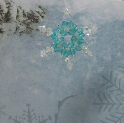 . Snowflake Ornament Beading Kit, Aqua Colour, Beginner Project Kit