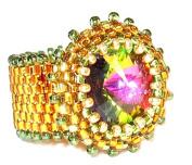 Beads East Vitrail Beaded Ring Kit by Ann Benson