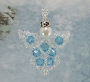 . Crystal Angel Beading Kit, Blue, Intermediate Project Kit