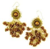 Beads East Butterscotch Beaded Earrings Kit by Ann Benson