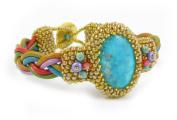 Beads East Monterrey Beaded Leather Bracelet Kit by Ann Benson
