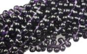 100 Deep Purple Czech Glass Teardrop Beads Tear drops 6MM