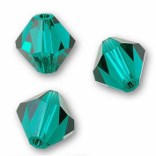 40 BICONE 4mm. EMERALD 5301 Crystal Beads.