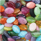 Czech Glass Oval Beads in Assorted Colours & Sizes