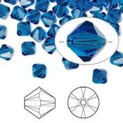 . Crystal 5328 6mm XILION Capri Blue Crystal Bicones - 24 Pack