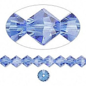 . Crystal 5328 6mm XILION Sapphire Crystal Bicones - 24 Pack
