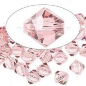 . Crystal 5328 6mm XILION Light Rose Crystal Bicones - 24 Pack