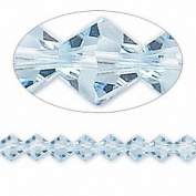 . Crystal 5328 6mm XILION Aquamarine Bicones - 24 Pack