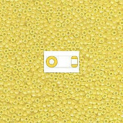 Yellow Transparent AB Matte Miyuki Japanese round rocailles glass seed beads 11/0 Approximately 24 gramme 13cm tube