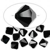 . Crystal 5301 8mm Jet Bicones - 12 Pack