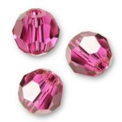 "10 pcs. Crystal 5000 Round 6mm ""Fuchsia"""