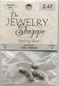 Jewellery Shoppe Sterling Silver Oval Beads, Pkg. of 6