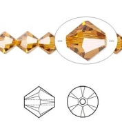 . Crystal 5328 8mm XILION Topaz Bicones - 12 Pack