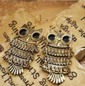 Liotus@ New Women Nice Retro Cinnamon Colour Owl Fashion Earrings