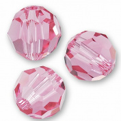 "10 pcs. Crystal 5000 Round 6mm ""Rose"""