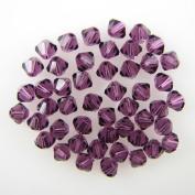 48 4mm. crystal bicone 5301 Amethyst beads