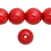 1 Strand Coral Red Glass Pearl Spacer Round Loose Beads Fit Necklace Bracelets Wholesale 10x10x10mm 85pcs GP0004-10