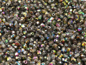 100 pcs Czech Fire-Polished Faceted Glass Beads Round 3mm Crystal Vitrail