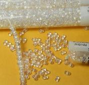 White Inside Colour Rainbow 2x4mm 6/0 Peanut Farfalle Butterfly Seed Beads 23 Gramme Tube