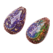 Mirage Colour Changing Mood Beads - Fancy Flame Pattern 23x15.5mm