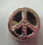 Pandora Style Gold Plated Peace Symbol Charm