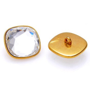 . 3818 faceted Button 14mm Crystal/Gold