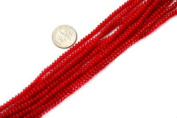 Varies Sizes Rondell Red Coral Beads Strand 38cm Jewellery Making Beads