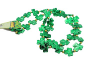 Irish 110cm Multi Shamrocks Green Beads
