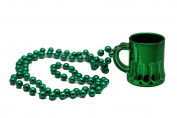 Irish 110cm Green Beads w/ Beer Mug