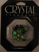 13 pc - Crystal 26 Facet Coin Mix - Black AB - Crystal Elegance - 32842-23