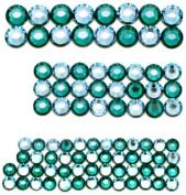 . Elements Hot Fix Crystals, Aqua Blue Combo