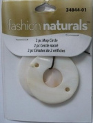 2 Pc Mother of Pearl Circle (Round) Beads - Fashion Naturals #34844-01