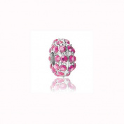Charm Factory Pink Rhinestone Bead