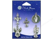 Blue Moon Beads Tokens Blue Moon Beads Charm Metal Spiritual, Antique Silver
