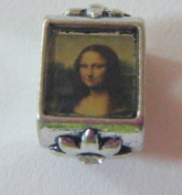 Pandora Style Mona Lisa Charm with Rhinestones