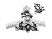 "Antique Silver ""Christmas Tree"" Compatible with European and Italian Jewellery"