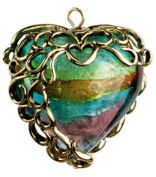 Heart Pendant 30mm 1/Pkg- Ant. Gold Filigree #2