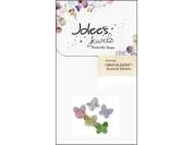 EK Jolee's Jewels Bead Crystal Butterfly 8mm Pastl