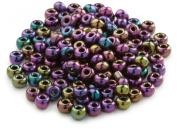 Beaders Paradise LT6E90 Czech Glass Purple Iris 6/0 E-Beads in a Tube